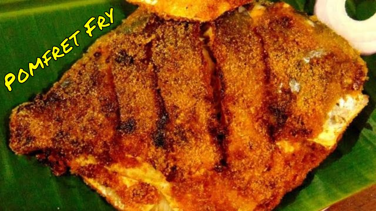 Pomfret fish fry recipe shetty 39 s cookery for Fish fry ingredients